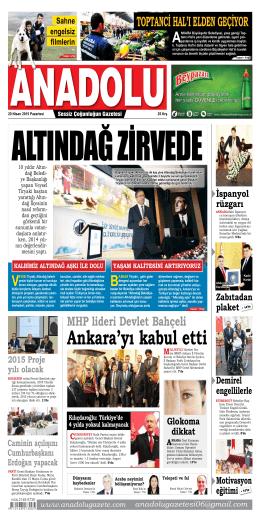 18 Nisan 2015 - Anadolu Gazete
