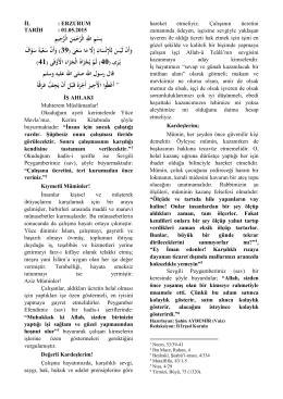 İş Ahlakı - Erzurum İl Müftülüğü