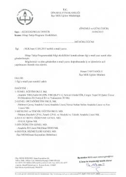 Hitap Takip Programı Eksiklikleri - Dinar İlçe Milli Eğitim Müdürlüğü