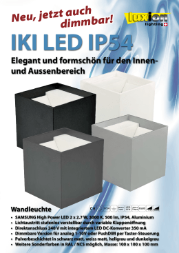 Flyer - Luxion Lighting GmbH