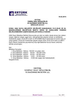37-2464 sayılı belediye kanununun 15,21,56,60 ve 84 maddesinde