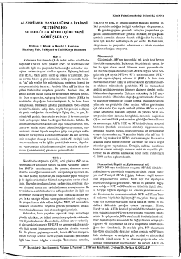 moleküler biyolojide yeni görüşler