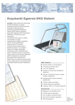 Koşubantlı Egzersiz EKG Sistemi - Tepa Tıbbi ve Elektronik Ürünler