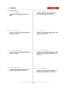 PARABOL - Antrenmanlarla Matematik