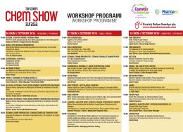 chemshow workshop prog - Turkchem Chemshow Eurasia 2014
