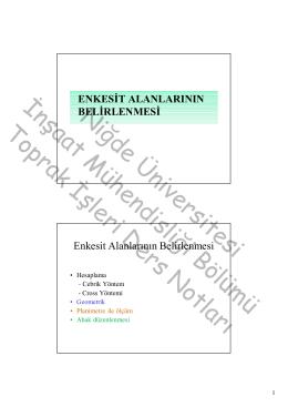 Niğde Üniversitesi İnşaat Mühendisliği Bölümü Toprak İşleri Ders