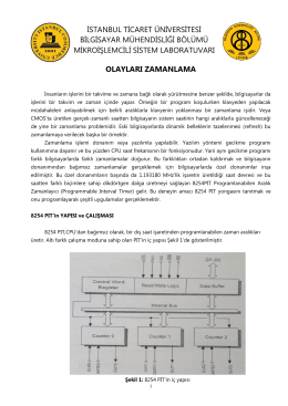 Olayları Zamanlama - İstanbul Ticaret Üniversitesi