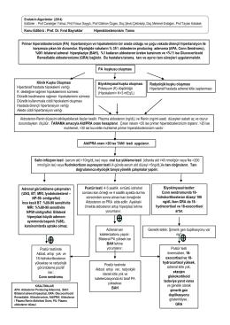 Primer hiperaldosteronizm (PA) hipertansiyon ve hipokaleminin bir