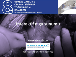 Nekrotizan pankreatit - Prof. Dr. Fatih Ağalar