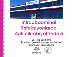 İntraabdominal Enfeksiyonlarda Antimikrobiyal Tedavi