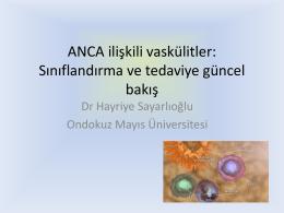 ANCA ilişkili vaskülitler