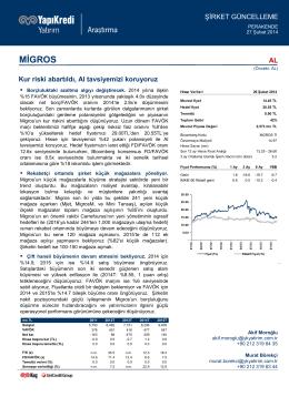 MİGROS - Yapı Kredi Yatırım