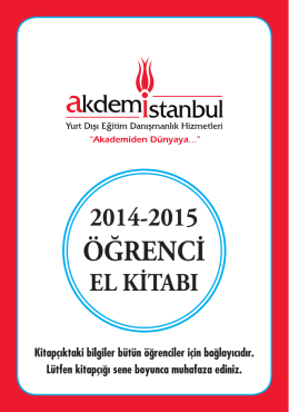 Akdemistanbul Öğrenci El Kitabı (2014