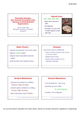 26.09.2014 1 Penumbra Kavramı: İskemik İnme: Neden Önemli