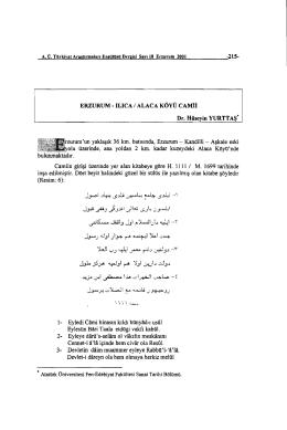 hüseyin yurttaş - Atatürk Üniversitesi
