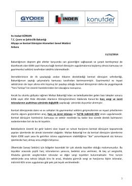 Sn.Vedad GÜRGEN T.C. Çevre ve Şehircilik Bakanlığı