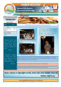 Temmuz 2014 - Gıda Kontrol Laboratuvar Müdürlükleri