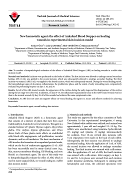 New hemostatic agent: the effect of Ankaferd Blood