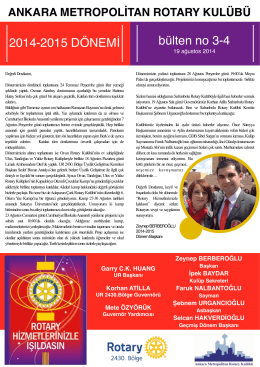 zey-bulten 3-4 - Ankara Metropolitan Rotary Kulübü