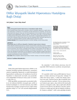 Diffüz İdiyopatik İskelet Hiperostozu Hastalığına Bağlı Disfaji