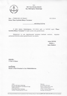 WJ\lı ııtr - mut ilçe millî eğitim müdürlüğü