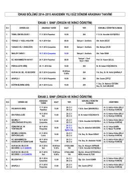 idkab bölümü -arasınavlar- güz 2014-2015