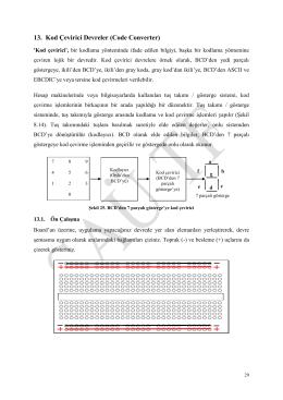 13. Kod Çevirici Devreler (Code Converter)