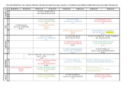 2013-2014 öğretim yılı bahar dönemi mütercim tercumanlık