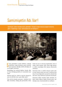 Dr. Ömer Menekşe - Samimiyetin Adı Var!