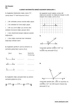 6.Sınıf Matematik Dersi Kazanım Soruları-1