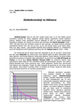 Glottokronoloji ve Abhazca
