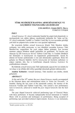 ÇOLAKOĞLU, Gözde-EKEN, Merve-TÜRK MUSİKİSİ