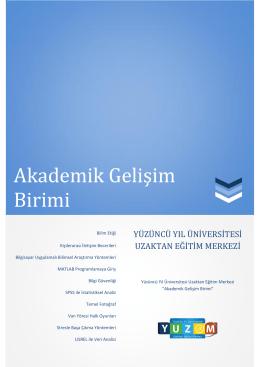 Akademik Gelişim Birimi - Yüzüncü Yıl Üniversitesi