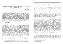 Osmanlı Bilimi Araştırmaları VI/1
