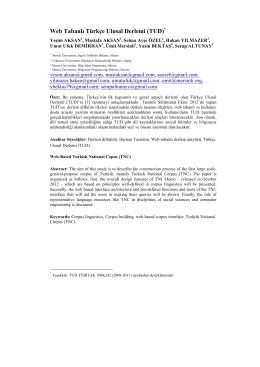 Web Tabanlı Türkçe Ulusal Derlemi (TUD)*