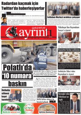 23 Eylül 2014 Salı - Polatlı Gazete Ayrıntı