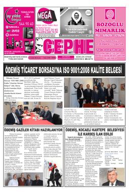 12.12.2014 Tarihli Cephe Gazetesi