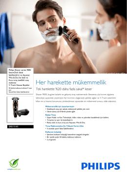 S9511/41 Philips SmartClick Sakal Şekillendirici ve Aquatec Wet