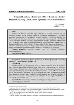 Tam Metin (PDF) - Sayı 65