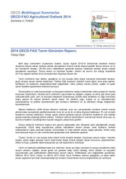 2014 FAO-OECD Tarımsal Görünüm Raporu