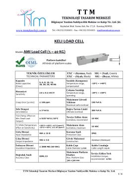 KELI AMI LOAD CELL (Yük Hücresi)