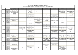 2014-2015 Güz Dönemi Ders Program Taslağı