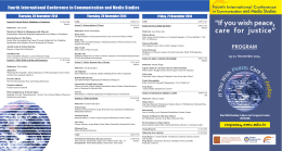Fourth International Conference in Communication and Media Studies