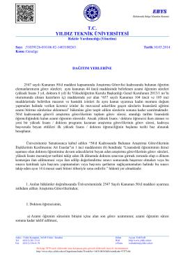 Araştırma Görevlileri - Yıldız Teknik Üniversitesi