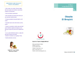 obezite el broşürü - Çayırova Toplum Sağlığı Merkezi
