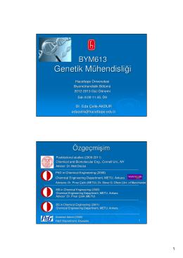 Genetik Mühendisliği - Hacettepe Üniversitesi