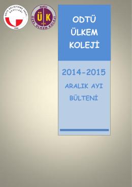 ODTÜ ÜLKEM KOLEJİ 2014-2015