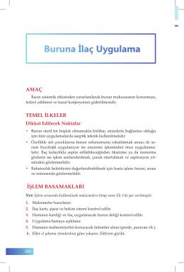 Buruna İlaç Uygulama - İzmir Güney Kamu Hastaneleri Birliği Genel