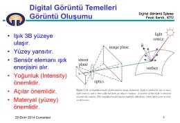 Dijital Görüntü İşleme