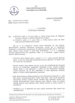 Seçmeli Derslerin Seçimi - Ankara İl Milli Eğitim Müdürlüğü